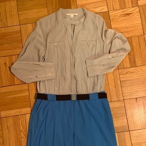 DvF silk and wool shirt dress—never worn!
